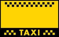 Advertise taxi background Royalty Free Stock Photography