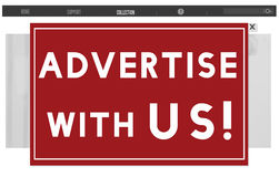 Advertise With Us Commercial Branding Persuade Concept. Advertise with us computer screen Stock Photos