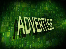 Advertise word isolated on digital background. Advertise word isolated on internet digital background Stock Photos
