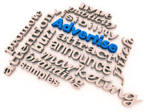 Advertise words collage Royalty Free Stock Photo