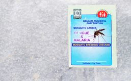 Advertisement against Dengue and Malaria Stock Image