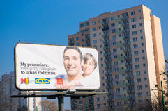 Advertisement billboard Royalty Free Stock Image