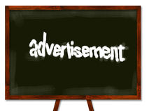 Advertisement blackboard Stock Images
