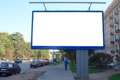 Advertisement board. Blank advertisement board in city street Stock Photography
