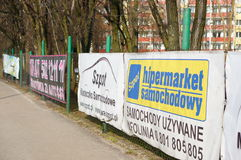Advertisement boards Stock Photo