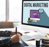 Advertisement Digital Marketing E-commerce Multimedia Concept Stock Photography