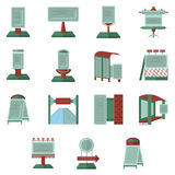 Advertisement flat color icons Royalty Free Stock Photos