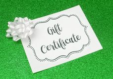 Advertisement for Gift Certificates. An Advertisement for Gift Certificates royalty free stock photography