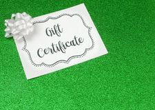 Advertisement for Gift Certificates. An Advertisement for Gift Certificates royalty free stock images