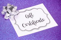 Advertisement for Gift Certificates. An Advertisement for Gift Certificates royalty free stock photos