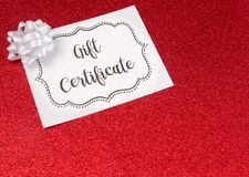 Advertisement for Gift Certificates. An Advertisement for Gift Certificates royalty free stock image