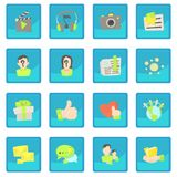 Advertisement icon blue app Stock Photo