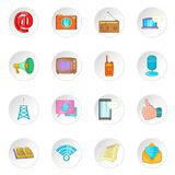 Advertisement icons, cartoon style. Advertisement icons set. Cartoon illustration of 16 advertisement vector icons for web Stock Images