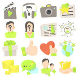Advertisement icons set, cartoon style Stock Photography