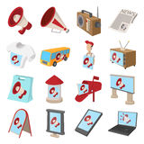 Advertisement icons set Stock Image