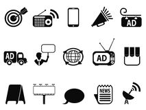 Advertisement icons set Royalty Free Stock Photos