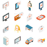 Advertisement icons set Royalty Free Stock Image