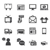 Advertisement icons set Royalty Free Stock Photography