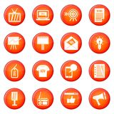 Advertisement icons vector set Royalty Free Stock Photography