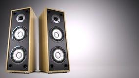 Advertisement, music, concert, audio concept Stock Photography