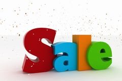 Advertisement of nice festive sales. On a white background Stock Image