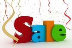 Advertisement of nice festive sales. On a white background Stock Photos