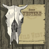 Advertisement RODEO WESTERN Royalty Free Stock Image