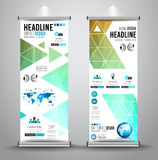 Advertisement roll up business flyer or brochure banner with vertical design Royalty Free Stock Photo