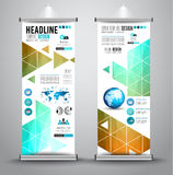 Advertisement roll up business flyer or brochure banner with vertical design Stock Image