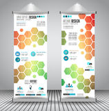 Advertisement roll up business flyer or brochure banner with vertical design Royalty Free Stock Photography