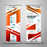 Advertisement roll up business flyer or brochure banner with vertical design. stock illustration