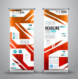 Advertisement roll up business flyer or brochure banner with vertical design. Royalty Free Stock Photo
