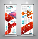 Advertisement roll up business flyer or brochure banner with vertical design. Royalty Free Stock Photos