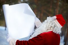 Advertisement for Santa Royalty Free Stock Images