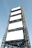 Advertisement scaffold Stock Image