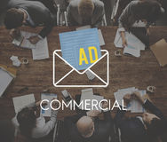 Advertisement Social Media Internet Letter Concept Royalty Free Stock Image