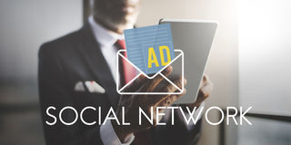 Advertisement Social Media Internet Letter Concept Royalty Free Stock Image