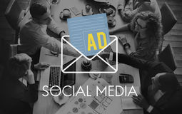 Advertisement Social Media Internet Letter Concept Royalty Free Stock Photography