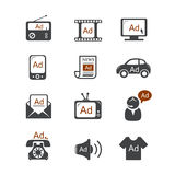 Advertisement vector icons Royalty Free Stock Images