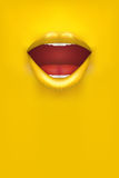 Advertisement Woman Poster Stock Image