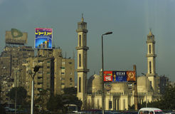 Advertisements in Cairo downtown Stock Images
