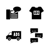 Advertisements. Simple Related Vector Icons royalty free illustration
