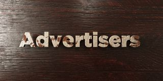 Advertisers - grungy wooden headline on Maple  - 3D rendered royalty free stock image Stock Photo