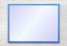 Advertising. Sign board panel on brick wall Stock Photo