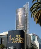 Advertising The Academy Awards. Large sign advertising the Academy Awards in Hollywood California Stock Photos