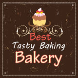 Advertising bakeries and cake Stock Image