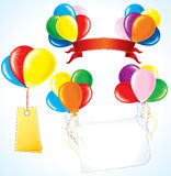 Advertising Balloons Royalty Free Stock Photography