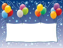 Advertising balloons royalty free illustration