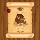 Advertising banner beer label background Stock Images