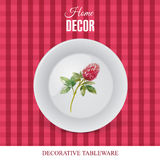 Advertising banner with decorative ceramic tableware Stock Images